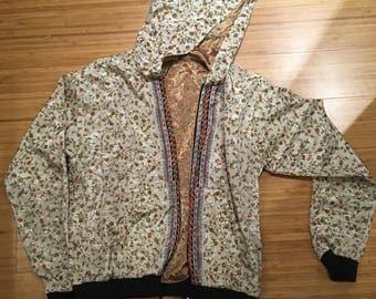 Handmade silk hoodie
