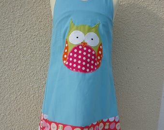 DRESS C OWL GIRL BLUE VERSION 5 YEARS