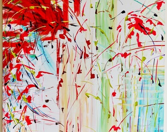 Set of Beautiful Bright Paintings - Acrylic on Canvas - Prints