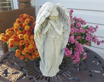Praying angel statue, concrete angel, concrete statue, concrete art, garden statue, concrete garden statue, gift