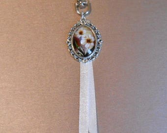 Bag charm or Keychain with silver clasp