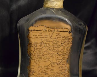 Game of Thrones Map Bottle