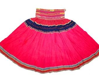 Ethnic Vinatge Tribal Traditional Classic Kuchi Banjara Skirt Mirror Work Gypsy Belly Dancer Dance India Gujrati Rajasthan Hippie Boho ATS
