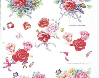 paper cut card 3D pink flowers 1