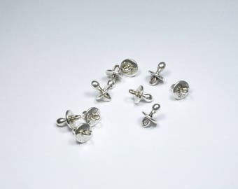 BR909 - Set of 10 silver pacifier charms