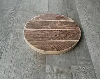 Bottom round plate 30cm wooden recycled very trendy