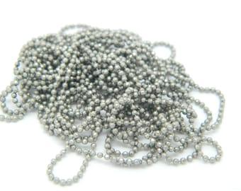 chain silver ball chain 1 m 2.5 mm (l446)