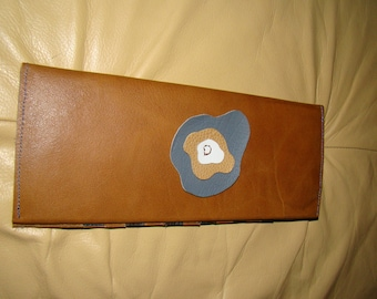 Great card holder and wallet in Brown and black leather case