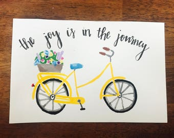 Joy is in the Journey handprinted picture
