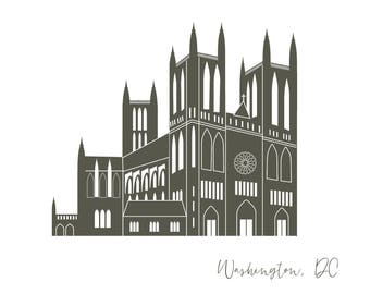 Washington DC National Cathedral Card A2