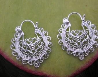Leyp.004 Silver earrings sterling silver earrings ear bohemian ethnic gypsy jewerly Christmas