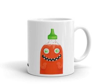 You're Sooo Hot Mug, Cartoon Mug, Salsa Mug.