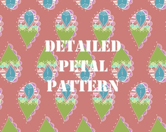 Pink Detailed Petal Pattern Digital Paper