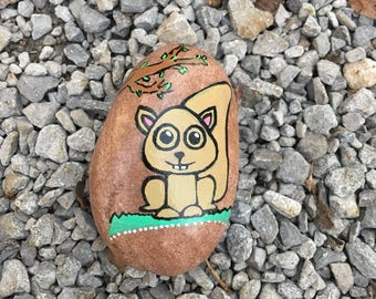 Squirrel!!!! Hand painted Rock