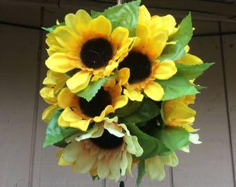 Sun flower wind chime