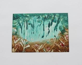 Jungle Vibes: Encaustic Art Painting