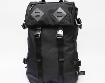 Panther Backpack, Leather bottom, high quality Nylon, large volume, BLACK, backpack men, laptop backpack, travel backpack