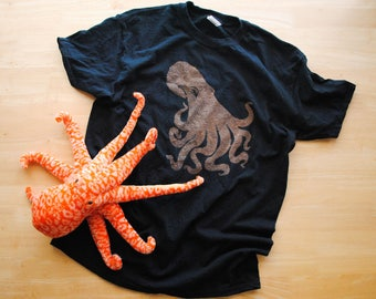 """Realistic Octopus Bleach """"Dyed"""" Shirt- Toddler and Youth Sizes"""