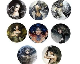 """25mm, 8 """"women fairies"""" set"""