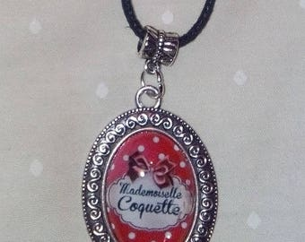 """mademoiselle coquette"" pendant necklace"