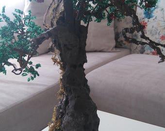 8 Beaded bonsai tree handmade gift, home decor