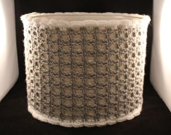 Grey Crochet Lampshade