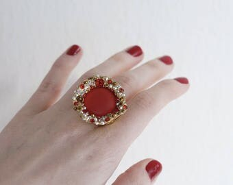 Luxury Red Crystal Ring