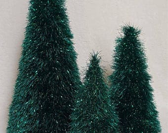 Tinsel Knitted  Christmas Tree Set