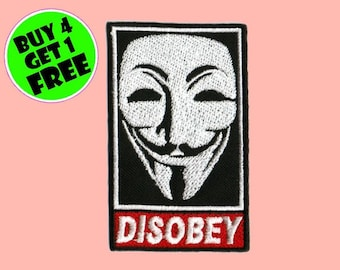 Punk Patches Outlaw Patches Iron On Patch Embroidered Patch Vendetta Guy Fawkes