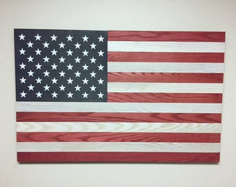 Howell Flag Wall Art-red and white