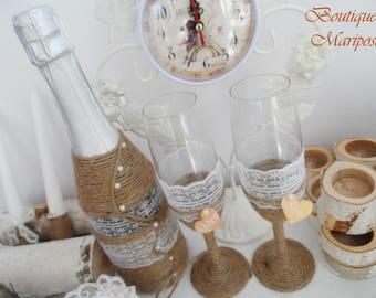 Wedding cups handmade
