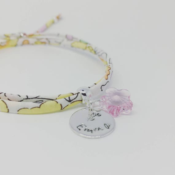 ★ BRACELET LIBERTY SWAROVSKI ★ Personalized Bracelet GriGri Liberty print choice. Teen & adult bracelet