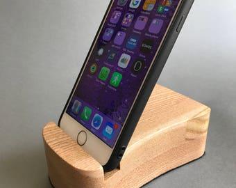 Wooden Elm Smart Phone Holder