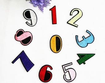 Letter or Number Patch  Iron on Sew on patch appliqueNO.23