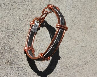 Bracelet mixed metal copper and silver