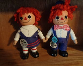 Raggedy Ann and Andy plastic banks