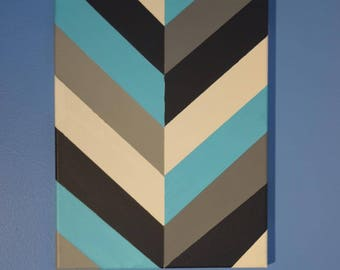 Blue, Black, Gray and White Tape Paint