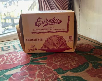 Eureka Brand Chocolate Ice Cream container