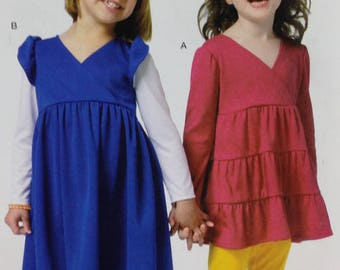 See and Sew B5801 Sewing Pattern,  Childs Dress, Ruffled Dress, Size 3-6, OOP