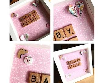 Baby Girl Box Frame
