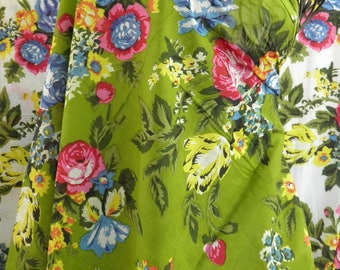 fabric cotton shalimar green meadow