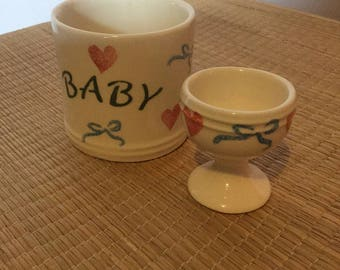 Baby cup and egg cup set