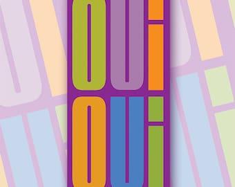 Oui Oui Greetings Card(Purple)'**FREE UK Shipping**MCDL08