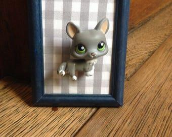 Figurine cat Pet shop of your childhood hero frame