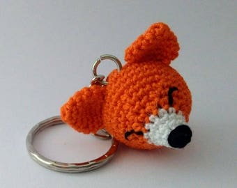 Fox Amigurumi crochet key chain-gift idea