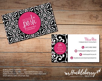 Perfectly Posh Business Cards, Perfectly Posh Independent Consultant, 3.5x2, Digital Download