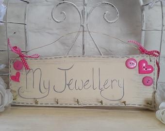 Shabby Chic Jewellery Hanger / Organiser