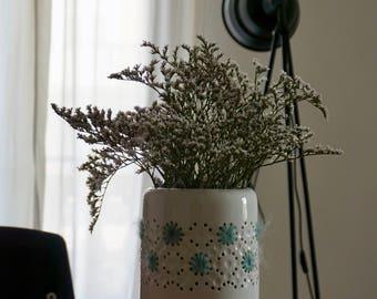 Vase en céramique Vintage avec travail de laine