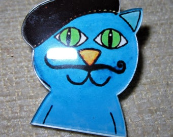 RESIN CAT BROOCH