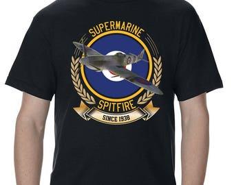 Supermarine Spitfire Color RAF Men's T-Shirt
